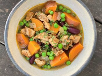 Jamaican Chicken Soup with Green Peas