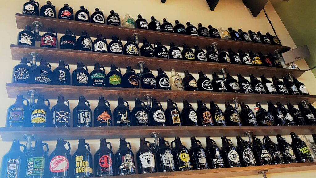 Jack Pine Brewery_Interior Growler wall