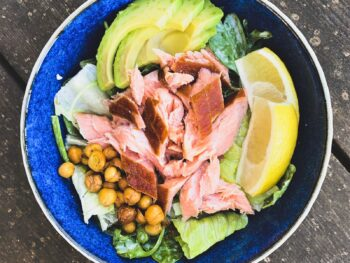 Smoked Salmon Casear Salad
