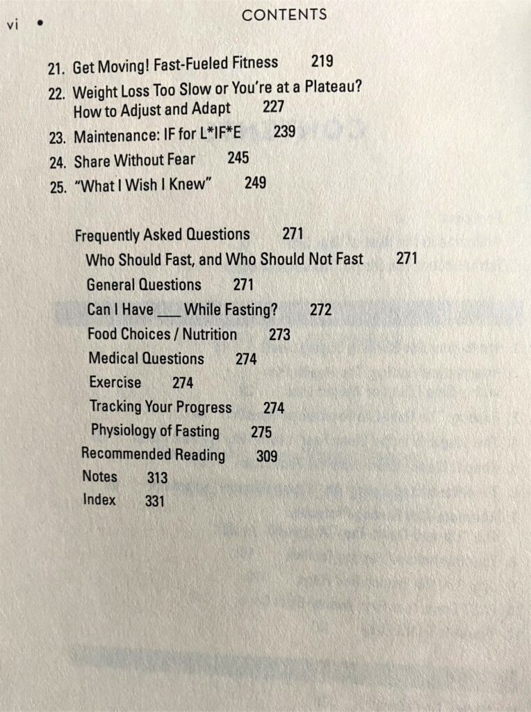 Fast Feast Repeat_Table of Contents_2