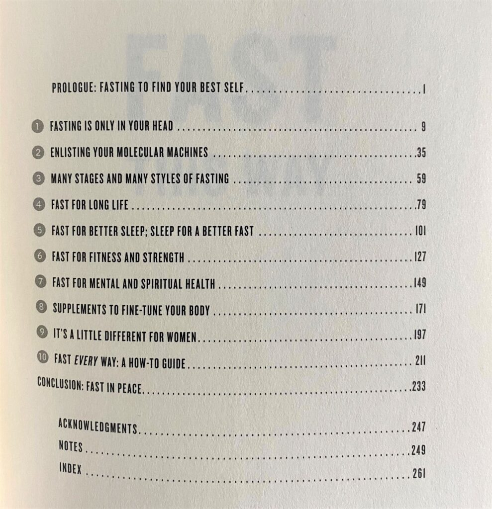Fast This Way_Table of Contents